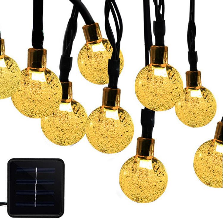 Dedicated solar light string 50 LED bubble ball outdoor waterproof holiday landscape garden decoration lantern strings