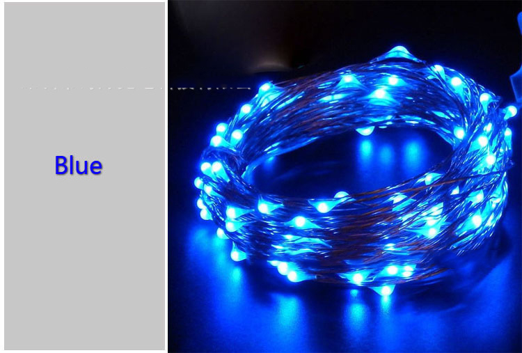 10M 100LED LED String wire copper wire light with USB Connector with factory price