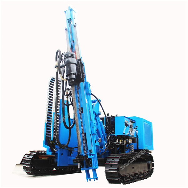 Hydraulic solar  hammer pile post driver machine for Indonesia, Vietnam, Philippine