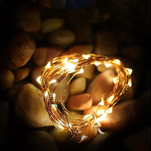 Battery Powered 2M Copper Wire LED Rope Fairy String Lights Holiday Lights