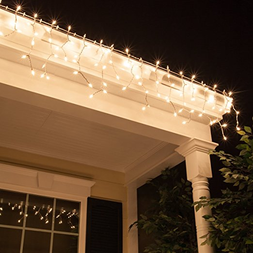 String Led Fairy Party Curtain Icicle Xmas Lights Outdoor Light Wedding Hanging
