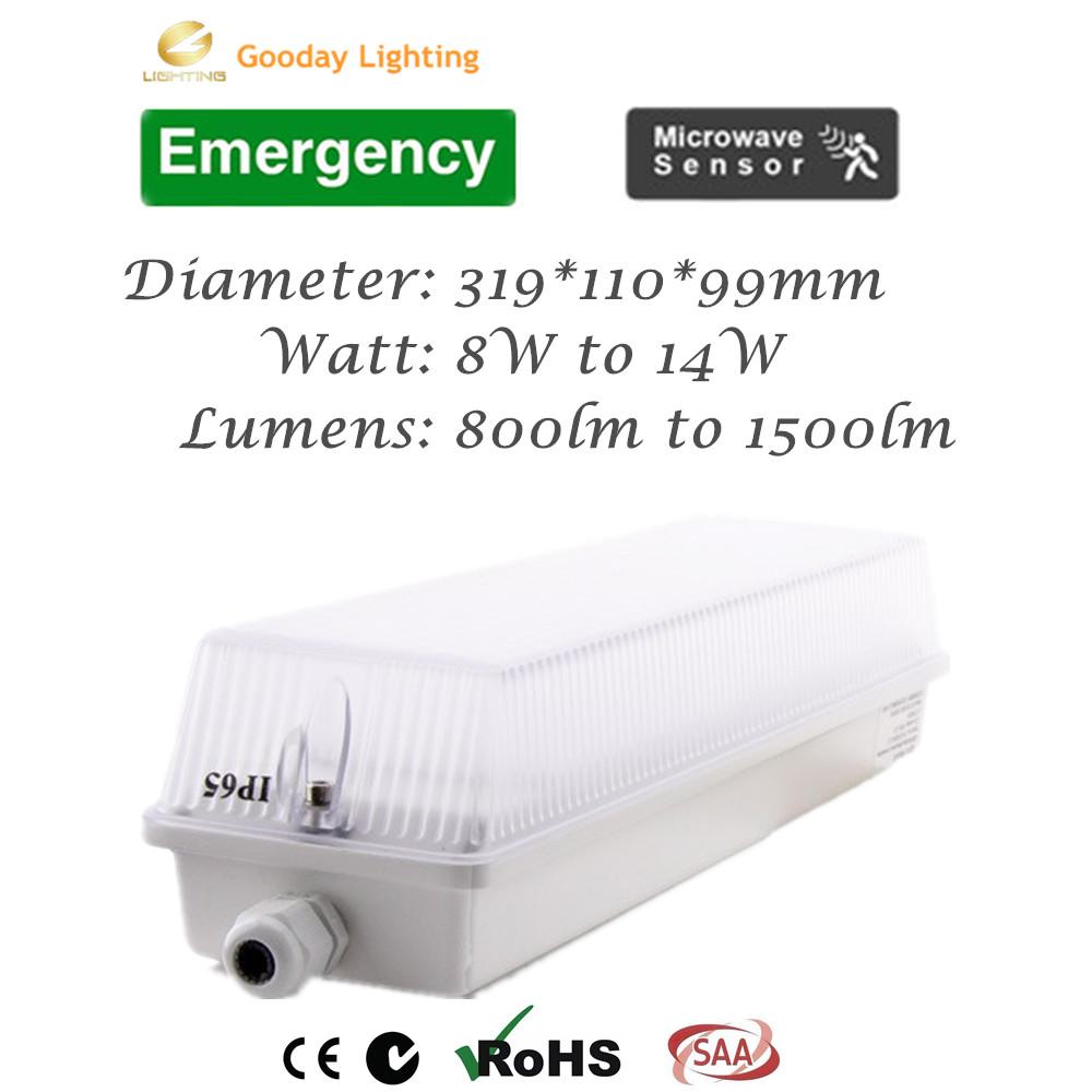 ip65 ik10 8w led maintained emergency surface mount bulkhead