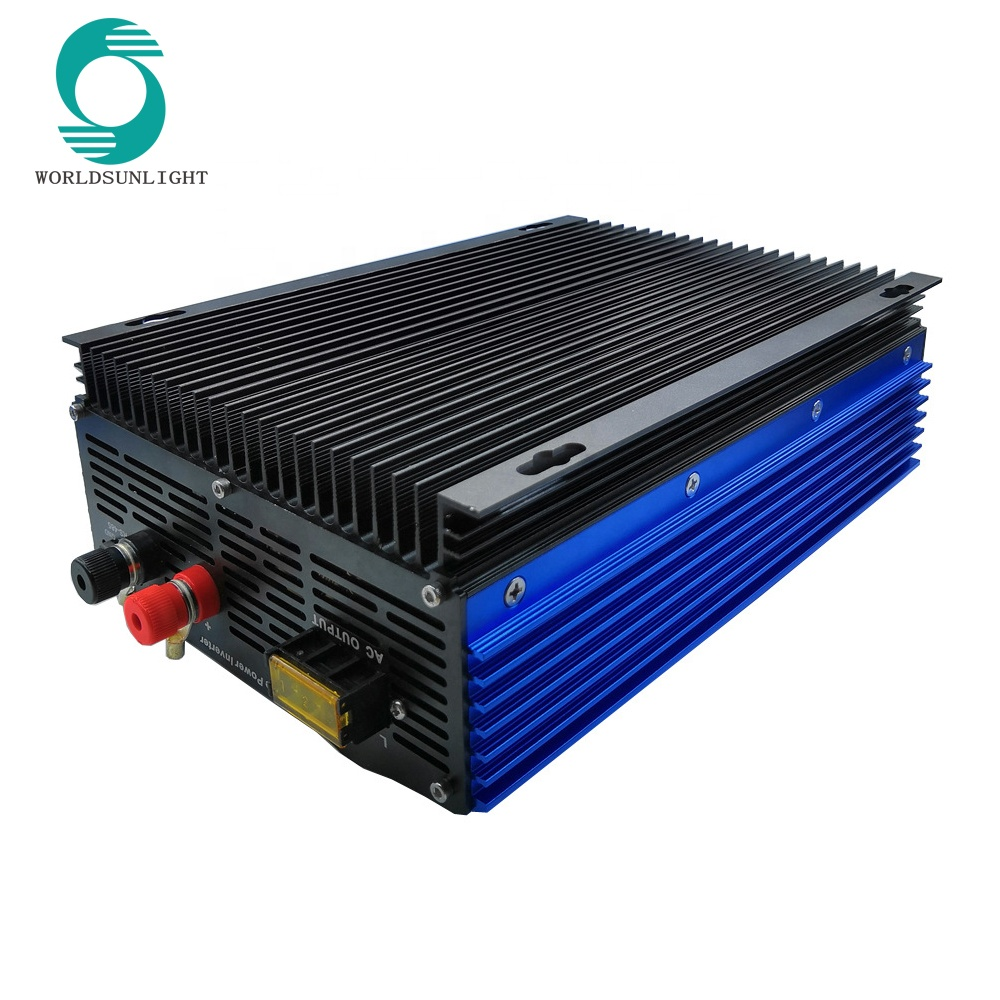 dc 24v 48v 72v ac110v 220v 230v 240v 1000W solar inverter with limiter Sensor, for battery discharge or grid tie inverter
