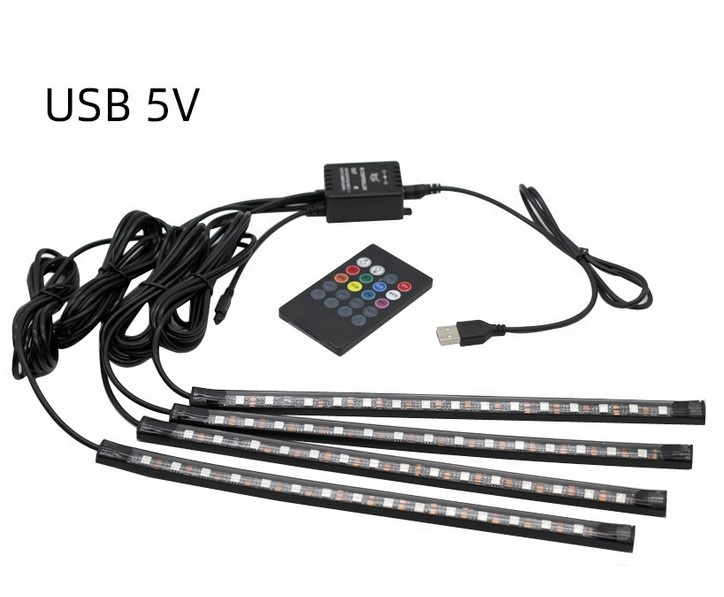 Interior atmosphere lighting RGB 5050 flexible car decoration light led strip for car
