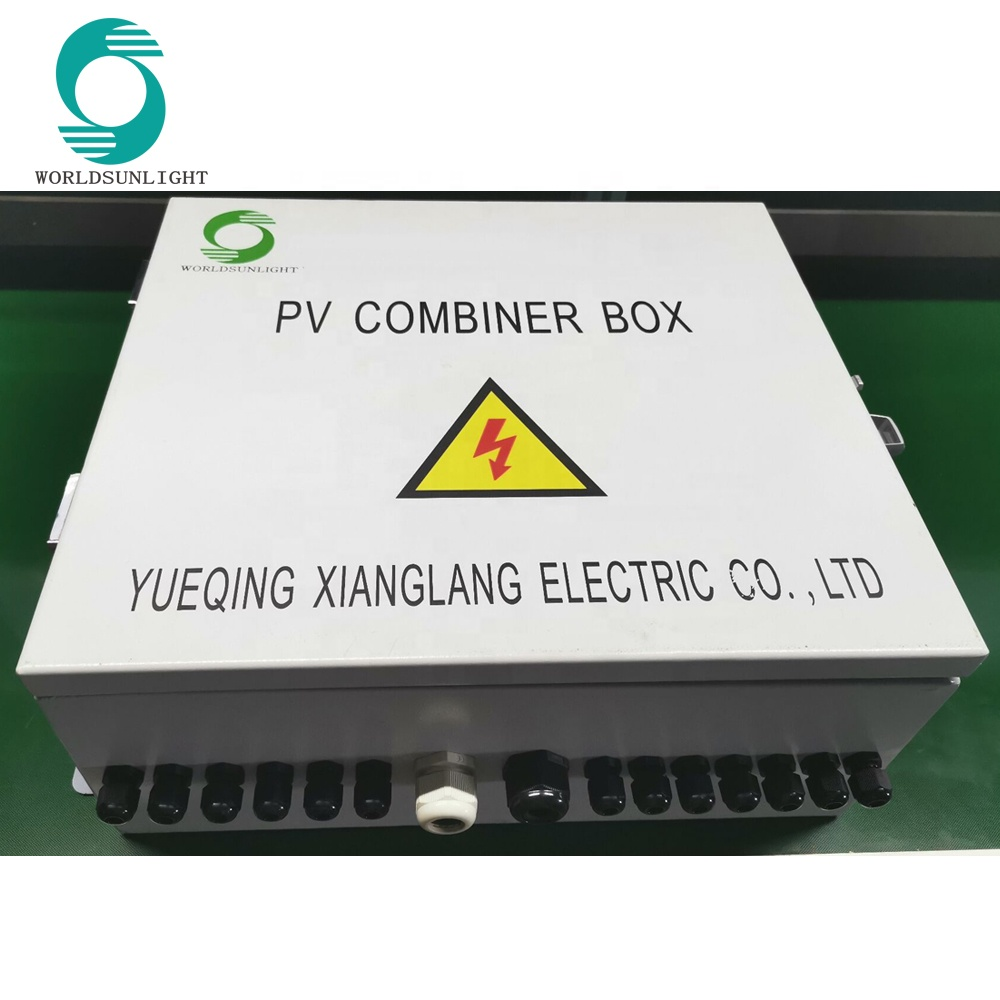 WSDB-PV6/1 IP65 6 IN 1 OUT 6 Strings 16A 1000V DC Solar PV Array Combiner Box