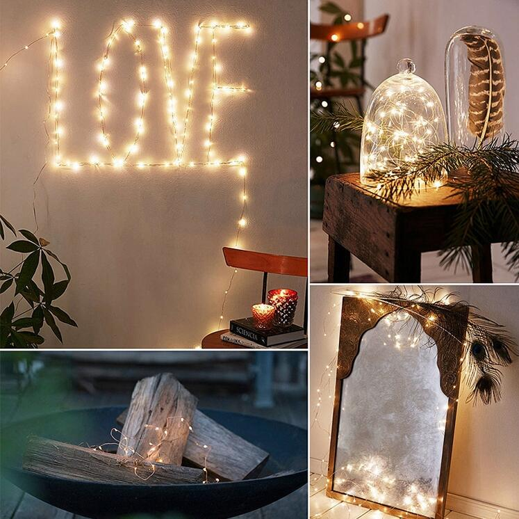 20 LED BATTERY OPERATED COPPER WIRE STRING FAIRY PARTY XMAS WEDDING LIGHT