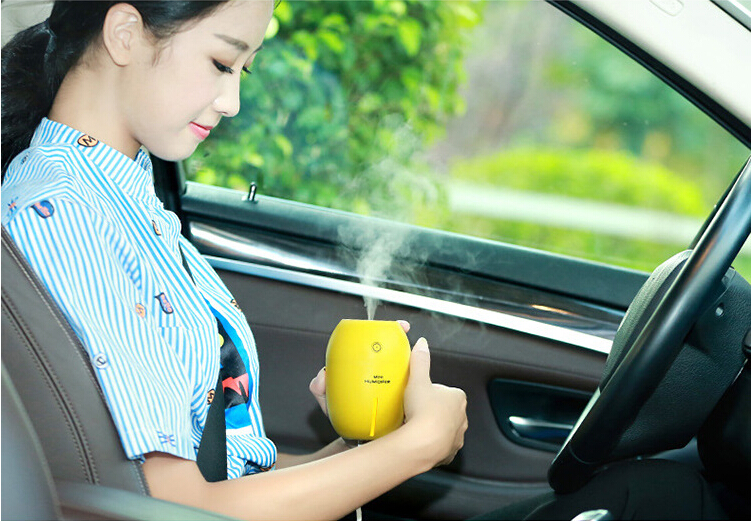 Funny Mini Lemon USB Electronic Purifier nightlight Aromatherapy atomizer Air Humidifier for car