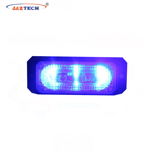 3 led linear strobe lighthead/emergency flashing caution light