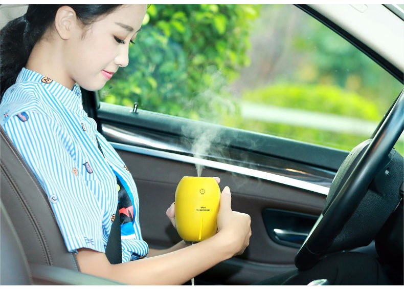 Portable Mini Charge Battery Powered Cordless Electric Led Lamp Aroma USB Diffuser with Lemon Design