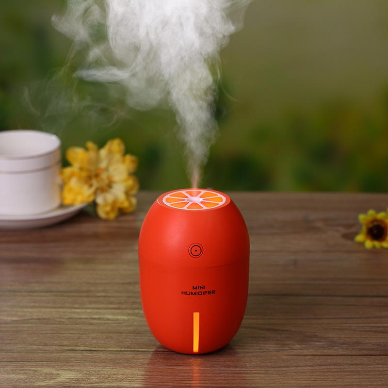 2017 New Design Hidly 180ml Lemon Shape Night Light LED Mini Humidifier