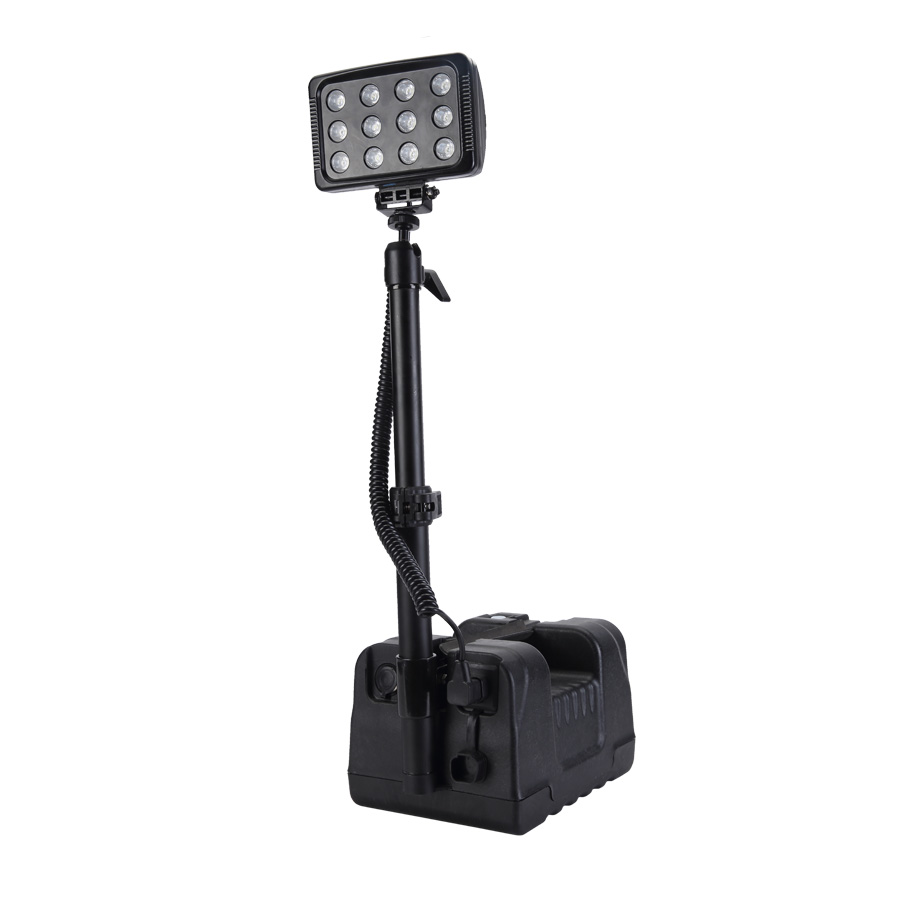 Rechargeable Searchlight Flood Light Tower Long Distance Model 5JG-RALS-9936 36w IP65 Emergency Outdoor Mining LED Lighting