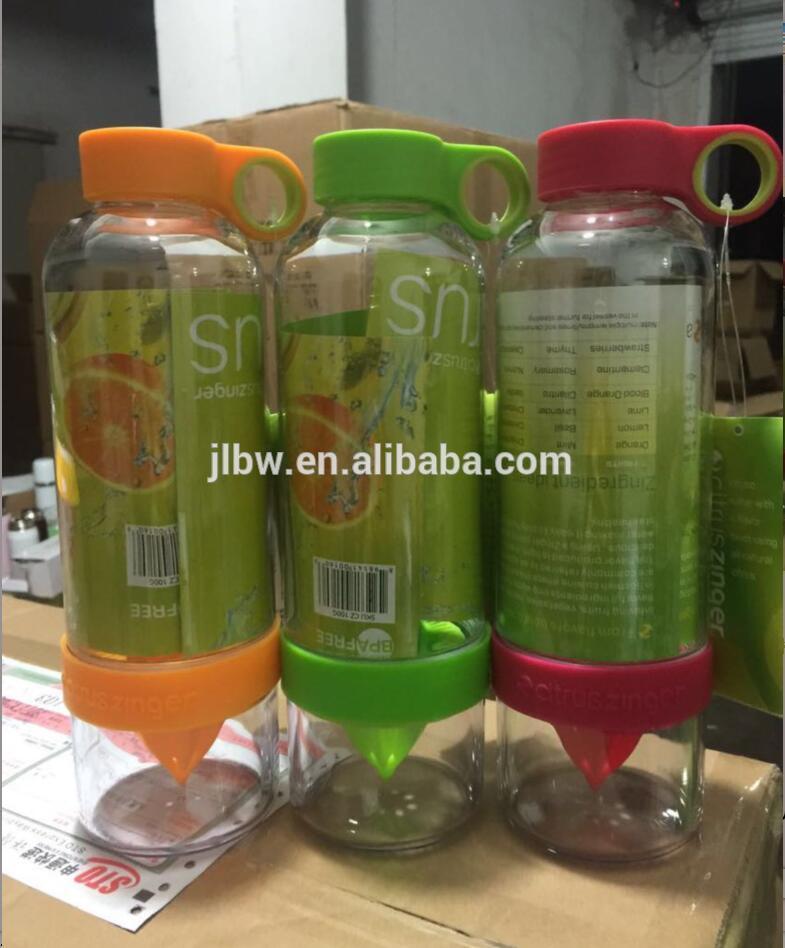 food grade plastic press Lemon juice maker juicer sport bottle