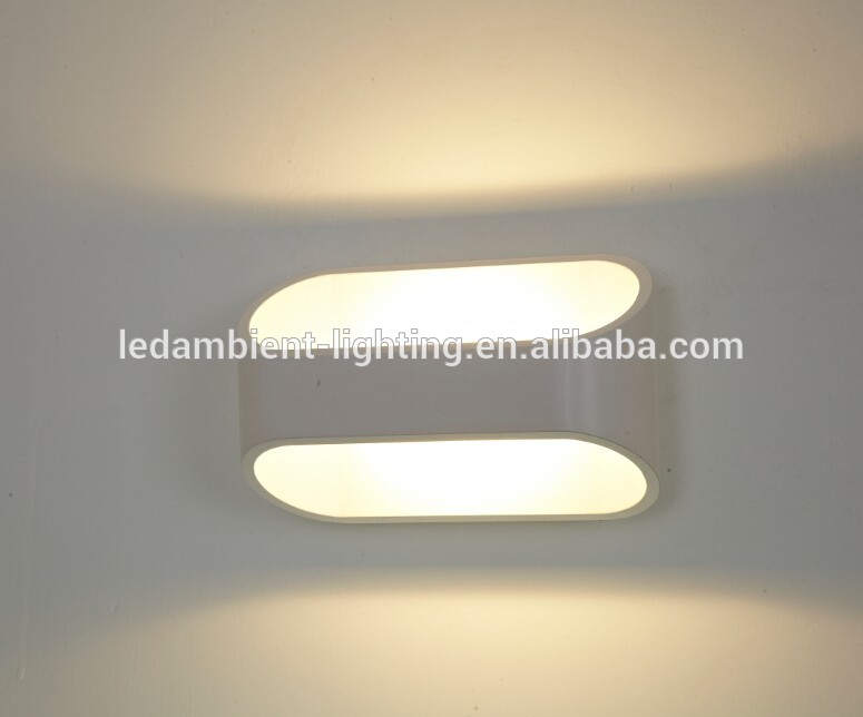 3W 6W LED Wall mounted lamp light with die casting aluminium body white black color 3000K