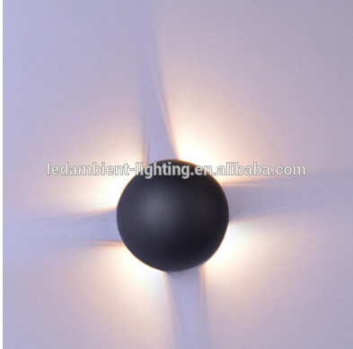 IP54 waterproof outdoor wall light ball for hotel lighting fixtures 4x3w 3000k