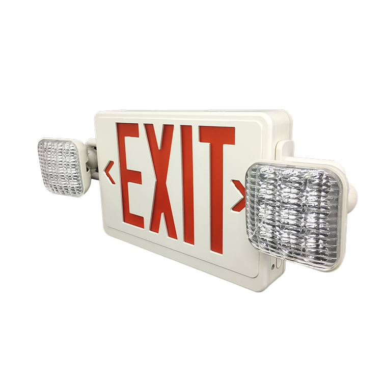 Running Man Metal Fire Escape Led Rechargeable Emergency Exit Sign Battery