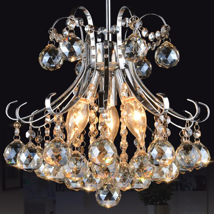 Large K9 Clear Crystal Black Crystal Shade Chandelier For Sale