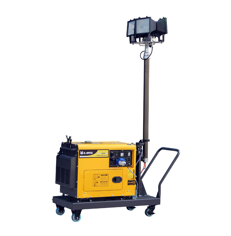 5KW diesel generator emergency lighting mobile light tower with 4x1000 Halide or LED lamp