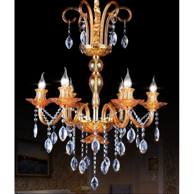 Zhongshan North American Style Crystal Low Ceiling Chandelier