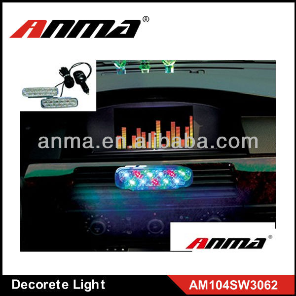 Sound control decorative light car decorates led strobe lights
