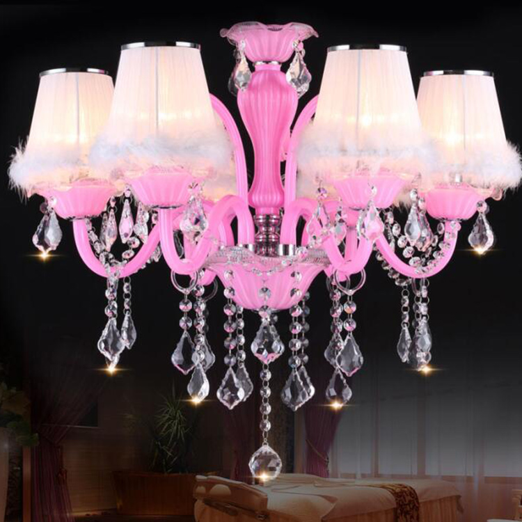 Ce Certificate Creative Design Crystal Iron Base Standing Chandelier