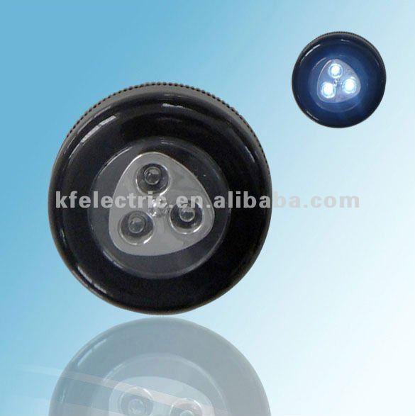 Black led touch light Round
