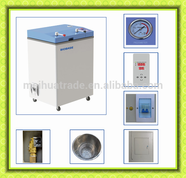 BIOBASE Commercial 50L Flip-open door type vertical Autoclave